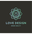 sign of love on wedding agency quality flat trend vector image vector image