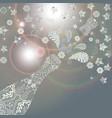 splashing open bottle of champagne background vector image vector image