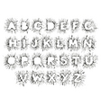 splitter alphabet vector image vector image