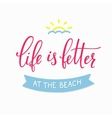 Summer beach lettering typography vector image vector image