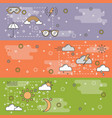 thin line art weather web banner template vector image