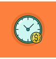 Time is money flat icon vector image vector image