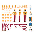 tourist male character creation kit - isolated set vector image vector image