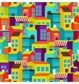 town concept background pattern seamless vector image vector image