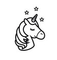 unicorn icon isolated on white background vector image