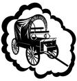 Vintage wagon vector image