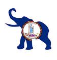 virginia republican elephant flag vector image vector image