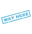 Way Here Rubber Stamp vector image vector image