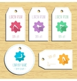 Yoga discount gift tags Ready to use Flat design vector image