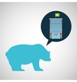 bank building finance bear sell vector image
