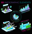 3d infographic elements vector image vector image