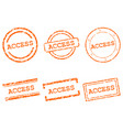 access stamps vector image vector image
