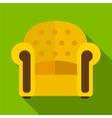 Armchair flat icon vector image