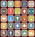 award flat icons on red background vector image vector image
