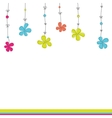 background with flowers vector illustration vector image
