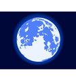 Blue moon vector image