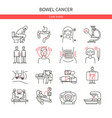 bowel cancer linear icons vector image vector image