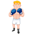 Boxer man vector image vector image