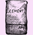 Cement bag paper sacks vector image vector image