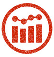 charts rounded grainy icon vector image