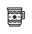 christmas coffee cup icon vector image