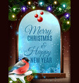 christmas frame background vector image vector image