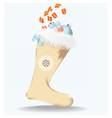 Christmas sock with toys vector image