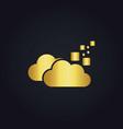 cloud digital data gold logo vector image vector image