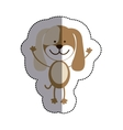 color sticker with dog and middle shadow vector image vector image