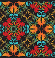 colorful floral baroque seamless pattern vector image