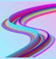 colorful flow background vector image vector image