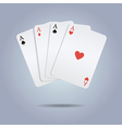 colorful of playing cards vector image vector image