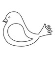 cute bird isolated icon vector image