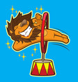 cute circus lion vector image