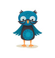 cute wise owlet wearing glasses sweet owl bird vector image vector image