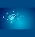 cyber padlock vector image
