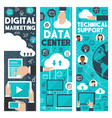 digital marketing data web center banners vector image