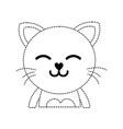 dotted shape sleeping cat adorable feline animal vector image vector image