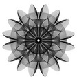 fantastic abstract line geometrical flower vector image vector image