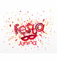 festa junina concept festive banner template vector image vector image