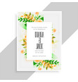 flower decoration beautiful wedding card design vector image