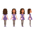 full length portrait cute brunette girl vector image vector image