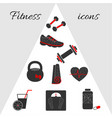 geometric fitness icons vector image