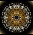 greek colorful floral mandala pattern ornamental vector image vector image