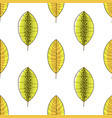 green and yellow forest leaves seamless pattern vector image