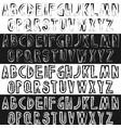 grunge font letters set vector image