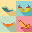 hammock icon set flat style vector image vector image