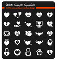 heart simply icons vector image vector image