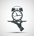 icons alarm clock on a tray vector image vector image