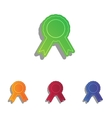 Label sign ribbons Colorfull applique icons set vector image
